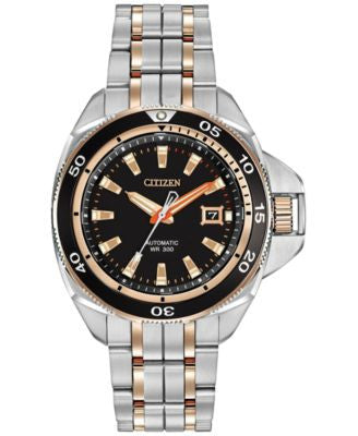 Citizen Men's Automatic Grand Touring Eco-Drive Two-Tone Stainless Steel Bracelet Watch 45mm NB1036-