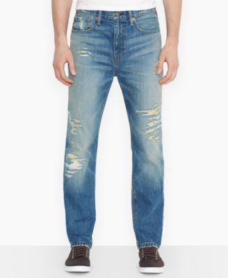 Levi's Men's 522 Slim-Fit Tapered Ripped Toto-Wash Jeans