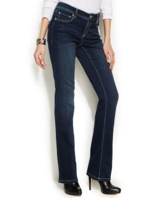 INC International Concepts Petite Bootcut Jeans, Dark Wash
