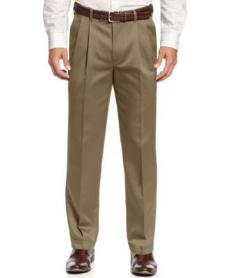 Perry Ellis Portfolio Classic-Fit No Iron Double Pleated Chino Dress Pants