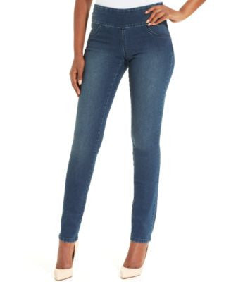Style & Co. Jeans, Curvy-Fit Pull-On Jeggings, Galaxy Wash, Only at Vogily