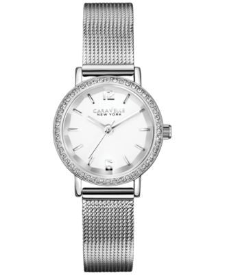 Caravelle New York by Bulova Women's Stainless Steel Mesh Bracelet Watch 20mm 43L170