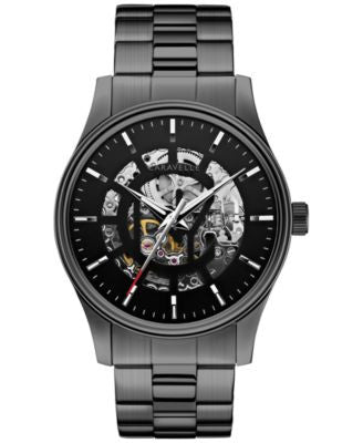 Caravelle New York by Bulova Men's Automatic Gunmetal-Tone Stainless Steel Bracelet Watch 42mm 45A12