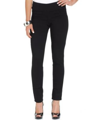 Style & Co. Curvy-Fit Pull-On Jeggings, Black Wash