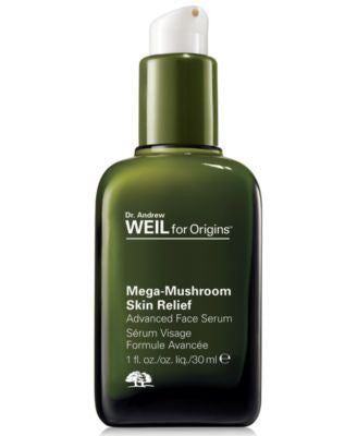 Origins Dr. Weil Mega-Mushroom Skin Relief Advanced Face Serum, 1.0 Fl. Oz.
