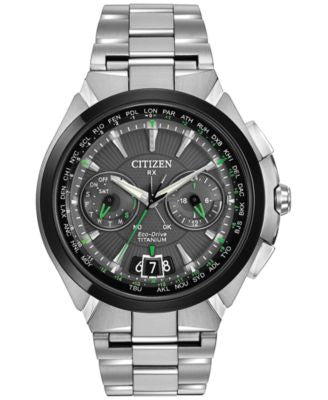 Citizen Men's Eco-Drive Satellite Wave Gray Titanium Bracelet Watch 48mm CC1084-63E