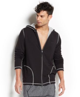 2(x)ist Men's Loungewear, Two-Tone Full-Zip Hoodie