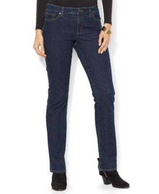 Lauren Ralph Lauren Petite Super-Stretch Curvy-Fit Straight-Leg Jeans, Rinse Wash