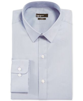 Bar III Slim-Fit Dusty Blue Solid Dress Shirt