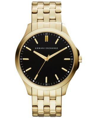 A|X Armani Exchange Men's Gold-Tone Stainless Steel Bracelet Watch 45mm AX2145
