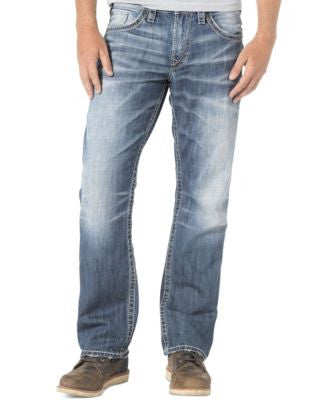 Silver Jeans Men's Loose-Fit Straight-Leg Gordie Jeans
