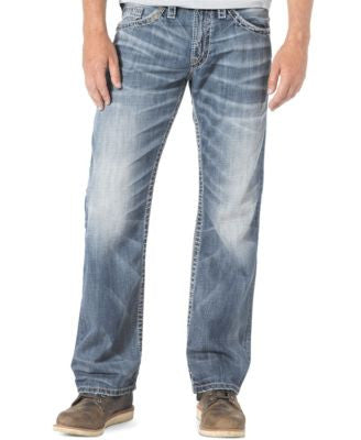 Silver Jeans Men's Relaxed-Fit Straight-Leg Zac Jeans