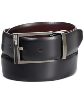 Kenneth Cole Reaction Matte Plaque Accent Reversible Belt