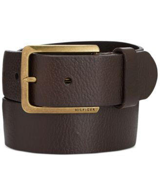 Tommy Hilfiger Heavy Brass Buckle Belt