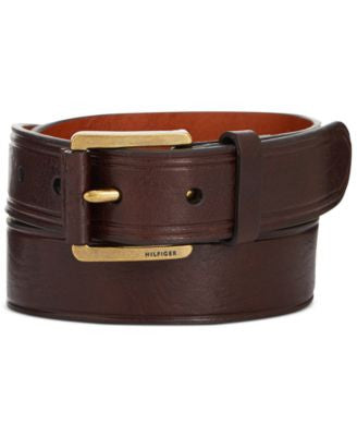 Tommy Hilfiger Leather Nose Buckle Belt