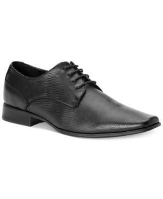 Calvin Klein Brodie Epi Textured Leather Oxfords