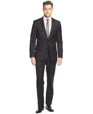 DKNY Black Solid Extra-Slim-Fit Suit
