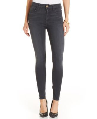 7 For All Mankind High-Waist Bastille Grey Wash Ankle Skinny Jeans
