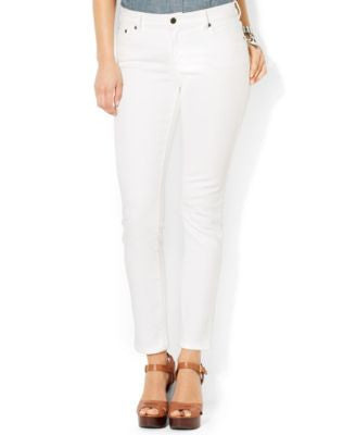 Lauren Jeans Co. Petite Slim Straight-Leg Jeans