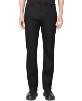 Calvin Klein Men's Stretch Black Slim-Straight Fit Jeans