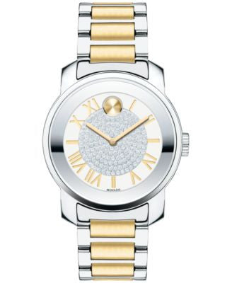 Movado Women's Swiss Bold Two-Tone Stainless Steel Bracelet Watch 32mm 3600256