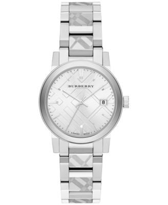 Burberry Women's Swiss Stainless Steel Bracelet Watch 34mm BU9144