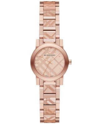 Burberry Women's Swiss Rose Gold-Tone Stainless Steel Bracelet Watch 26mm BU9235