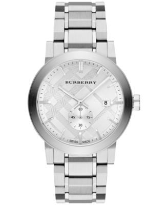 Burberry Men's Swiss Stainless Steel Bracelet Watch 42mm BU9900