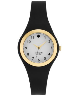 kate spade new york Women's Rumsey Black Plastic Bracelet Watch 30mm 1YRU0642