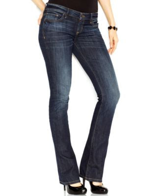 GUESS Low-Rise Dickens Wash Bootcut Jeans