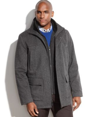 Calvin Klein Heavyweight Wool-Blend Overcoat