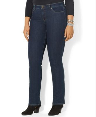 Lauren Jeans Co. Plus Size Curvy Straight-Leg Jeans
