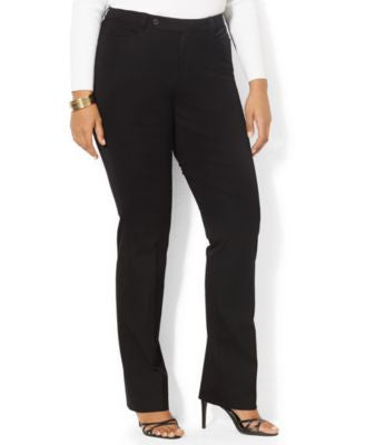 Lauren Ralph Lauren Plus Size Straight-Leg Stretch-Twill Pants