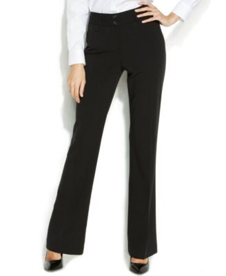 Alfani Petite Straight-Leg Two-Button Trousers
