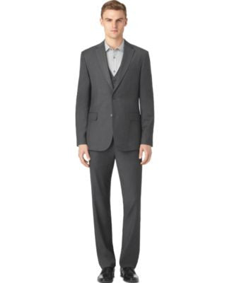 Calvin Klein Men's Granite Heather Suit Separates