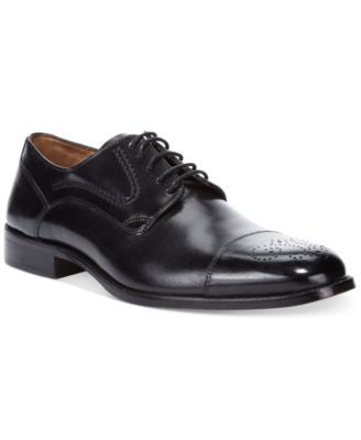 Johnston & Murphy Stratton Cap-Toe Oxfords