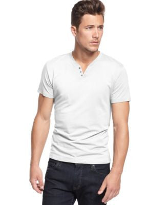 Alfani Men's Slim-Fit Split Crew-Neck T-Shirt