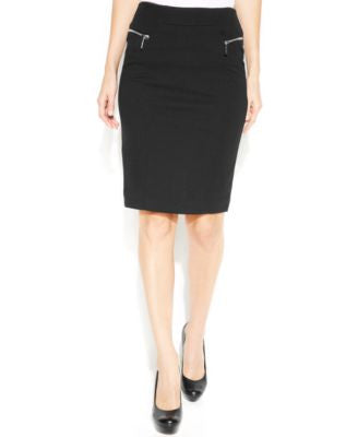 MICHAEL Michael Kors Petite Zipper-Pocket Pencil Skirt