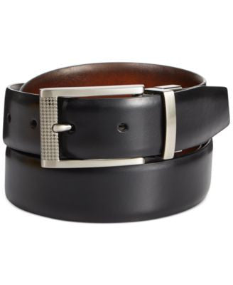 Ryan Seacrest Distinction Herringbone Inlay Reversible Belt