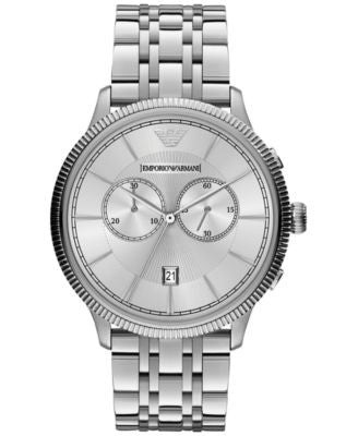 Emporio Armani Men's Chronograph Stainless Steel Bracelet Watch 43mm AR1796