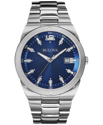 Bulova Men's Stainless Steel Bracelet Watch 43mm 96B220