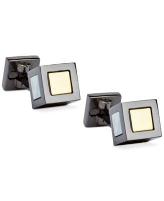 Ike Behar Detailed-Center Block Cufflinks