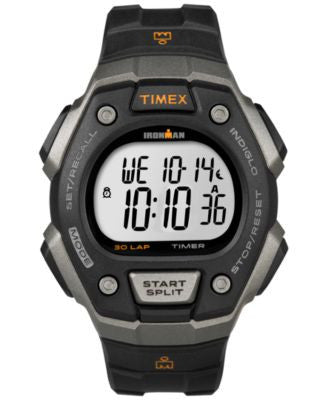 Timex Men's Digital Ironman 30 Lap Black Resin Strap Watch 41mm T5K821U