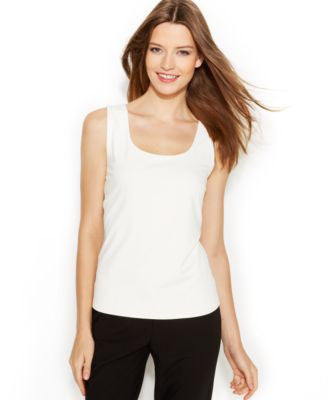 Calvin Klein Sleeveless Scoop-Neck Shell