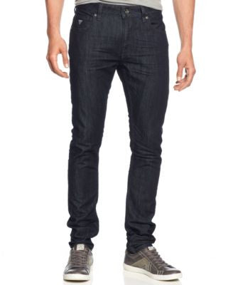 GUESS Men's Smokescreen-Wash Skinny Jeans