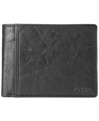 Fossil Ingram International Flip Bifold With Coin Pocket Leather Wallet