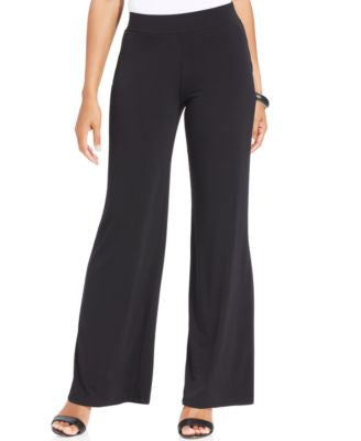 JM Collection Petite Pull-On Wide-Leg Pants
