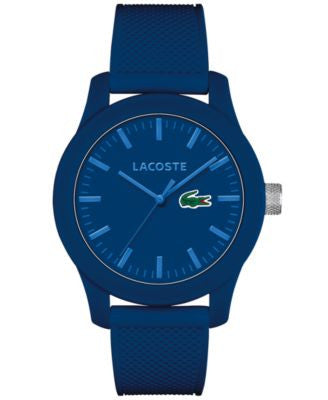 Lacoste Men's L.12.12 Blue Silicone Strap Watch 43mm 2010765