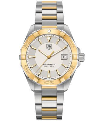 TAG Heuer Men's Swiss Aquaracer 18k Gold-Plated and Stainless Steel Bracelet Watch 41mm WAY1151.BD09