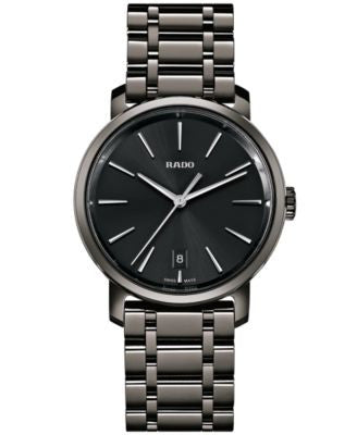 Rado Men's Swiss DiaMaster Plasma High-Tech Ceramic Bracelet Watch 40mm R14072177